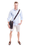 Man with messenger bag Royalty Free Stock Image