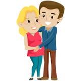 Man met Zwangere Vrouw stock illustratie