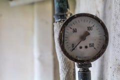 Manômetro velho do calibre de pressão Foto de Stock