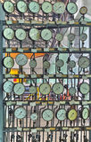 Manômetros industriais na fábrica Imagem de Stock Royalty Free