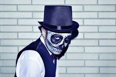 Man with a mexican calaveras makeup Royalty Free Stock Photos