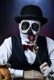 Man with a mexican calaveras makeup Royalty Free Stock Photo