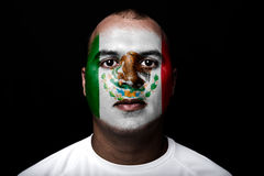 Man with Mexico flag Royalty Free Stock Image