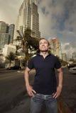 Man in Miami Royalty Free Stock Photo