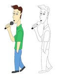 Man with microphone Royalty Free Stock Photography