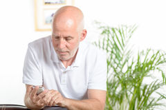 A man of middle age on phone Royalty Free Stock Photos