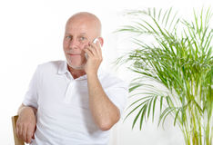 A man of middle age on phone Royalty Free Stock Photo