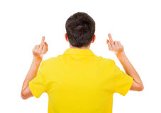 Man with Middle Fingers Gesture Stock Photos