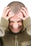 Man with migraine Royalty Free Stock Images