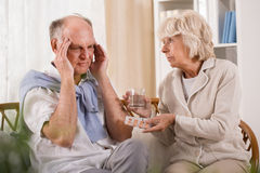 Man with migraine Royalty Free Stock Image