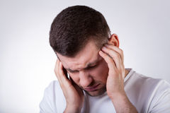 Man with migraine Royalty Free Stock Photos