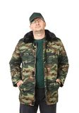 Man in military clothing. Stock Images