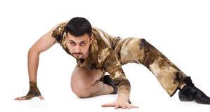 Man in military uniform Royalty Free Stock Photos