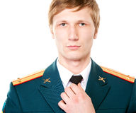 Man in military uniform Stock Photography