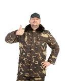 Man in military vest. Stock Image