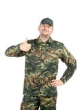 Man in military vest. Stock Photography