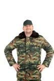 Man in military vest. Stock Photo