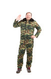 Man in military vest. Stock Photos