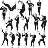 Man mime pose posing. Man mime  pose posing poses Royalty Free Stock Images