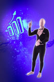 Man mime present business symbols Stock Photography