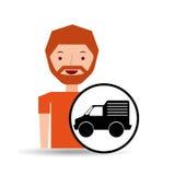 Man mini truck icon Stock Photo