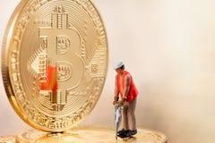 Mining bitcoin concept Stock Photography