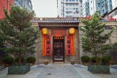 Man Mo Temple в Tai Po, Гонконге Стоковые Фотографии RF