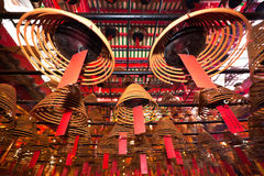 Man Mo temple. Incense Coils in Man Mo temple. Hong Kong Stock Images