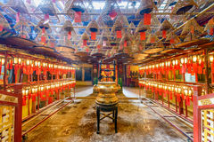 Man Mo Temple Arkivfoto