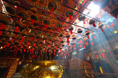 Man Mo temple in Hong Kong Stock Photo