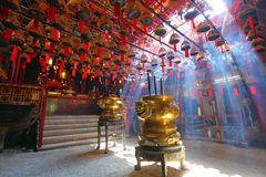 Man Mo temple in Hong Kong Royalty Free Stock Photography