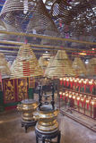 Man Mo temple in Hong Kong stock photos