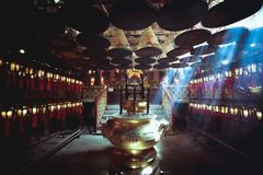 Man Mo Temple. In Hong Kong, It is one of the famous temple in Hong Kong Stock Photo