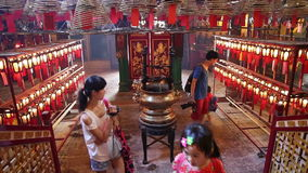 Man mo temple hong kong stock video footage