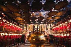 Man Mo Temple. In Hong Kong, It is one of the famous temple in Hong Kong Royalty Free Stock Image