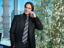 Man with mobile nn Royalty Free Stock Photos