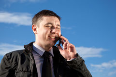 Man on mobile phone Stock Photos