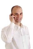Man on mobile phone Stock Photos