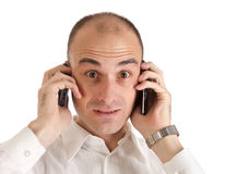 Man with mobile phone Stock Photography