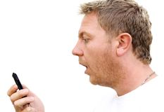 Man with mobile phone Royalty Free Stock Images