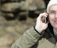 Man with mobile phone Stock Image