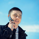 Man on mobile phone Royalty Free Stock Photography