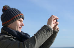 Man with mobile phone Stock Photos