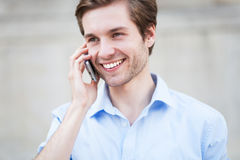 Man with mobile phone. Young man with mobile phone Stock Images
