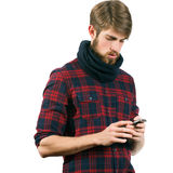 Man with mobile phone Stock Images