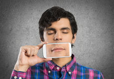 Man with mobile phone Stock Photo