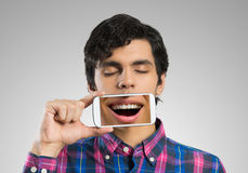 Man with mobile phone Royalty Free Stock Photography