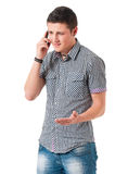 Man with mobile phone Royalty Free Stock Photos