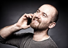 Man with mobile Royalty Free Stock Photo
