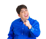 Man mocking Royalty Free Stock Photo